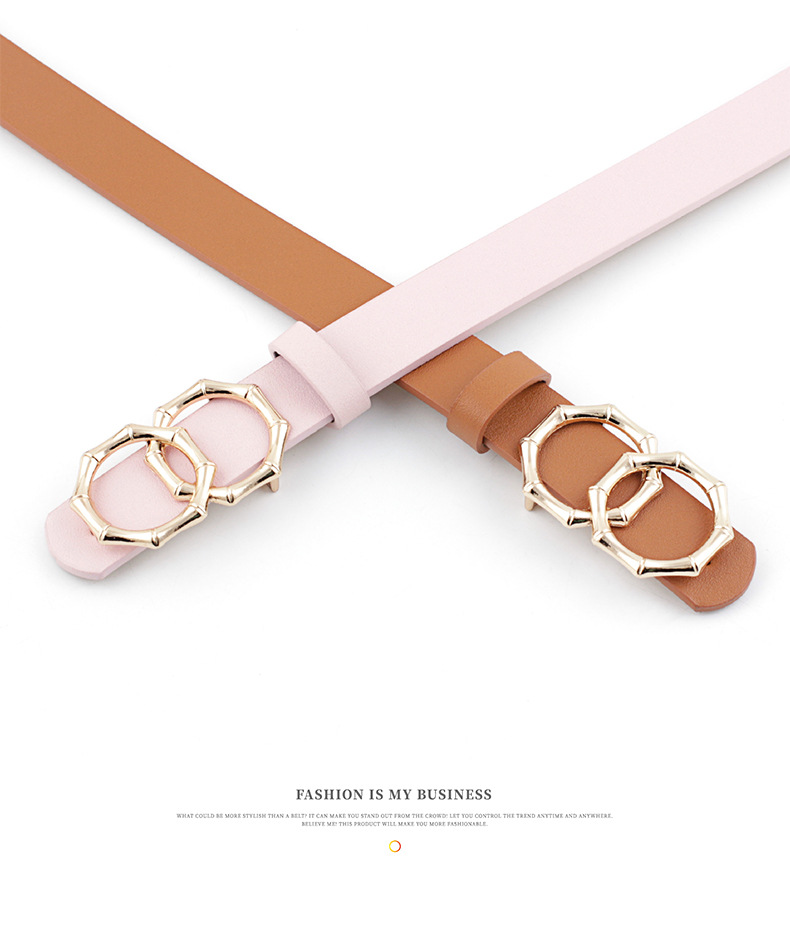 New round buckle women's belt women's casual belt decoration jeans dress belt NHPO198257