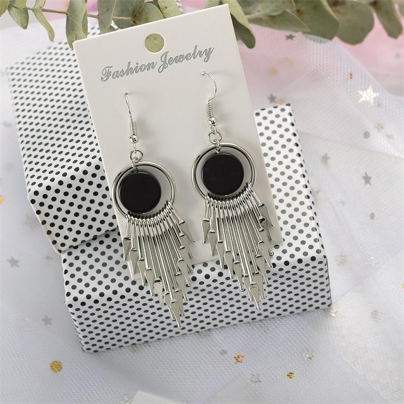 Alloy long round earrings NHDP153024