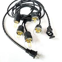 廠家生產美國戶外防水燈串線E26防水燈頭ETL庭院室外燈串線