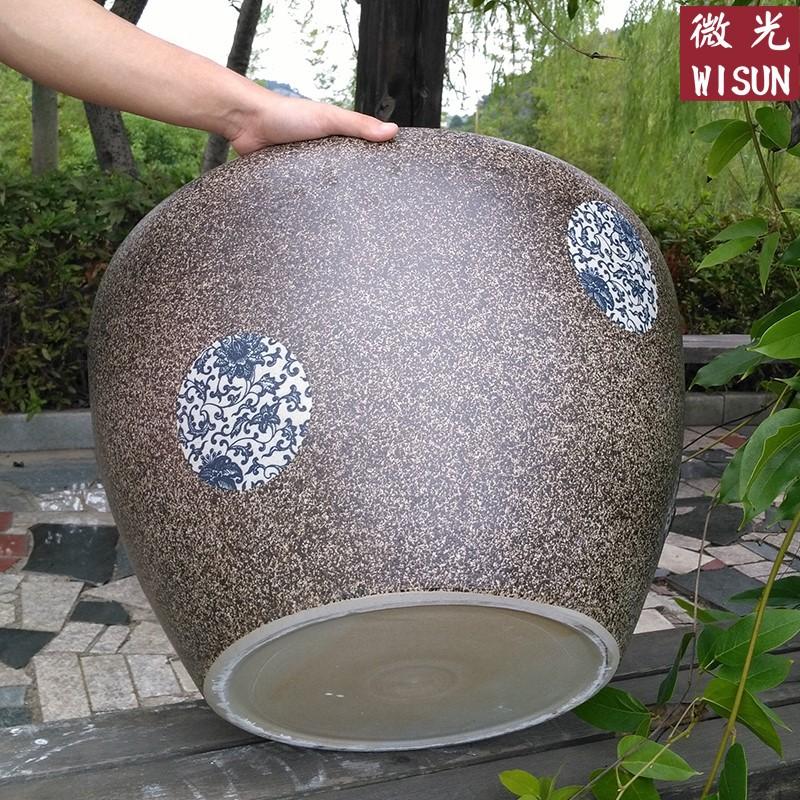 景德镇陶瓷鱼缸特大号养鱼盆荷花缸碗莲睡莲花盆庭院阳台风水水缸