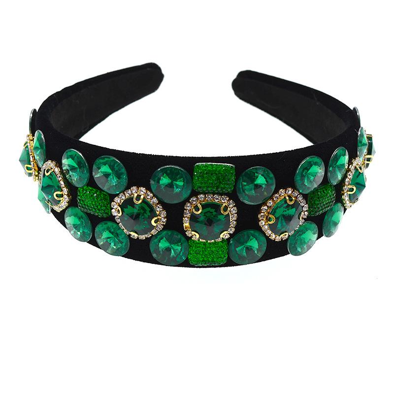 Baroque headband fashion temperament ball geometry crystal full diamond hair accessories bride headband NHNT177559