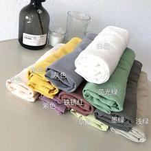 星期T恤女 每天一件都不够 水洗竹节麻棉圆领短袖休闲上衣马卡龙