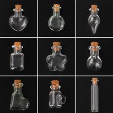 透明玻璃瓶批发DIY手工手机配件五角星许愿瓶香水瓶手机挂件