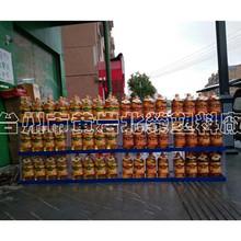 定制三层70*35超市大米食用油面粉白糖红糖豆腐乳香肠塑料展示架