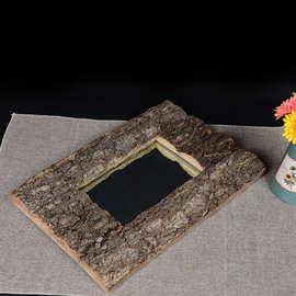 创意家居 壁挂式镜子 梳妆镜衛生間鏡子加工定制鏡木制工藝品廠家