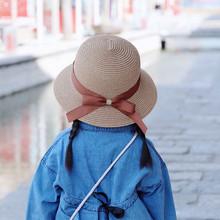 儿童草帽母女亲子大檐遮阳帽海边沙滩出游太阳帽宝宝帽子夏季折叠