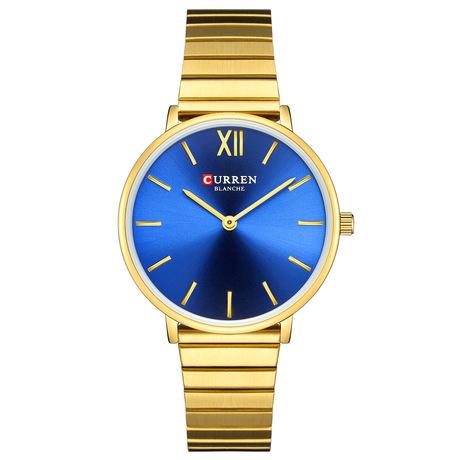 Curren / Karui En 9040 kinh doanh thép đồng hồ phụ nữ mô hình dạng nữ nữ thời trang thạch anh đồng hồ
