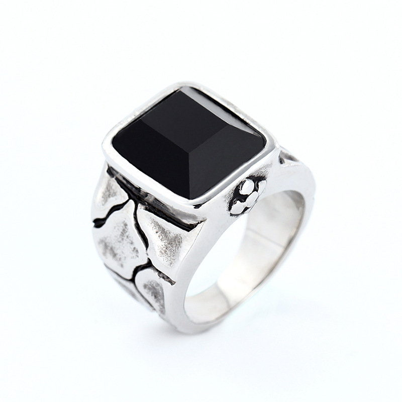 Titanium&Stainless Steel Fashion Geometric Ring(Steel color-8)Fine Jewelry NHIM1692-Steel-color-8