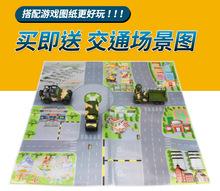 適用于兒童玩具車套裝男孩合金回力小汽車模型軍事坦克各類車工程