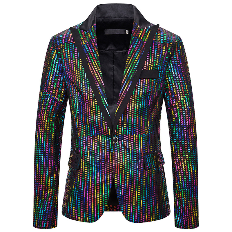 Men's suit Sequin performance dress suit nightclub men's wear host MC studio coat suit suit