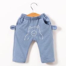 休闲裤卡通裤子中小童纯棉长裤