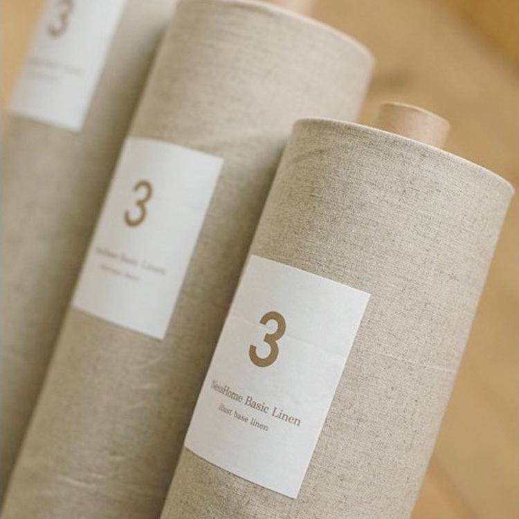 亚麻布料 原色本色素色 背景棉麻布 沙发布 diy拼布 手工刺绣布头