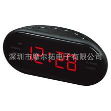 無線鬧貪睡鐘定時鐘控功能AM/FM雙頻收音機LED數碼時鐘 新款