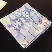 專業廠家旅游贈品小手帕地圖多用方巾全棉貢緞系列來稿定制logo