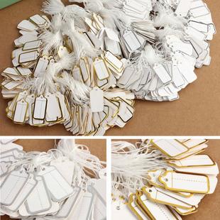 Jewelry price tag paper price tag price tag gold edge silver edge price money tag 100 per pack