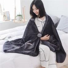 披毯毛毯空調披肩法蘭絨毯子辦公室午睡懶人毯加厚毯休閑沙發蓋毯