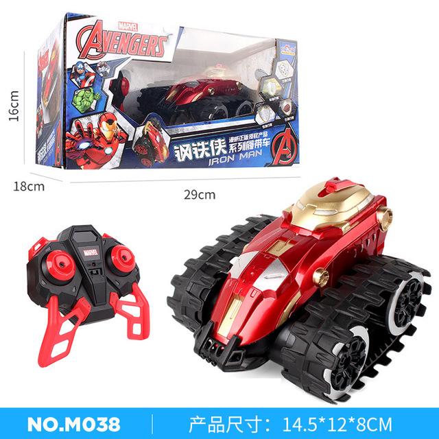 Marvel chính hãng rung động cùng một đoạn Spider-Man xe tay ga từ xa Mỹ đội trưởng điều khiển từ xa xe sáng tạo đồ chơi cậu bé Xe điện điều khiển từ xa