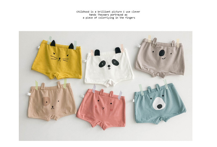 Children's underwear wholesale three-dimensional ear animal triangle boxer men and women baby shorts wholesale NHER206439