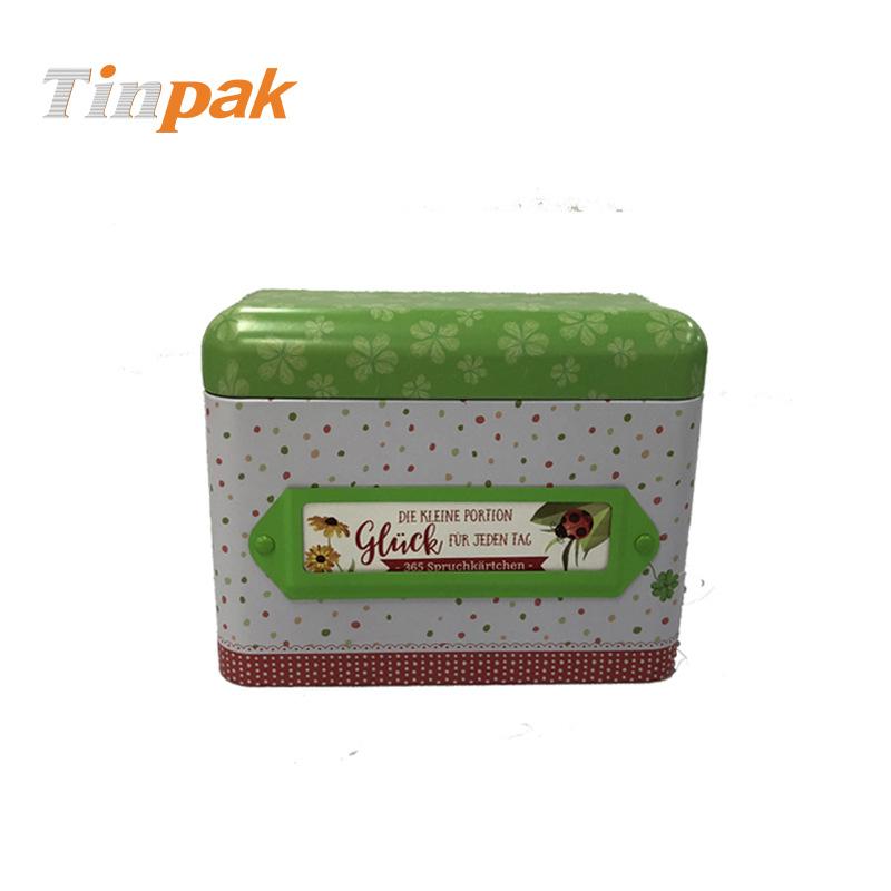 曲奇饼干包装铁盒 翻盖曲奇饼干铁盒 长方马口铁饼干盒印刷制罐
