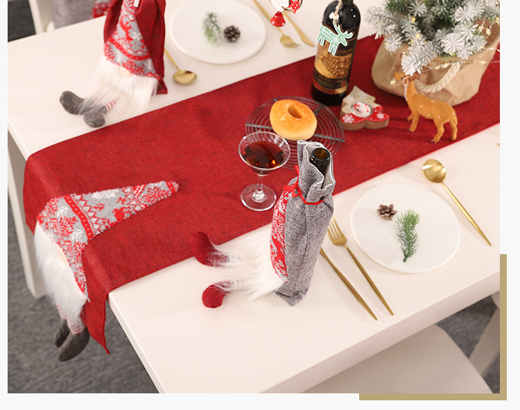 New Christmas decoration table flag creative three-dimensional elderly table decoration tablecloth placemat NHHB186118