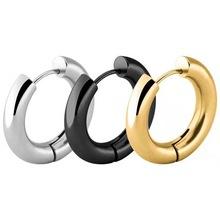 2021欧美热销夸张耳圈不锈钢5.0圆形大线径耳环潮流个性钛钢耳饰