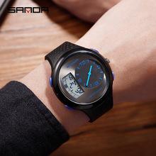 三达男士防水学生手表爆款时尚多功能夜光户外运动个性电子腕表