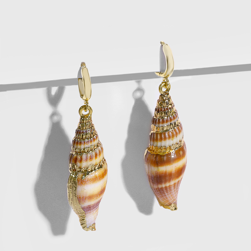 Womens Conch Sea Shell Shell  Beads Other Earrings NHAS120517