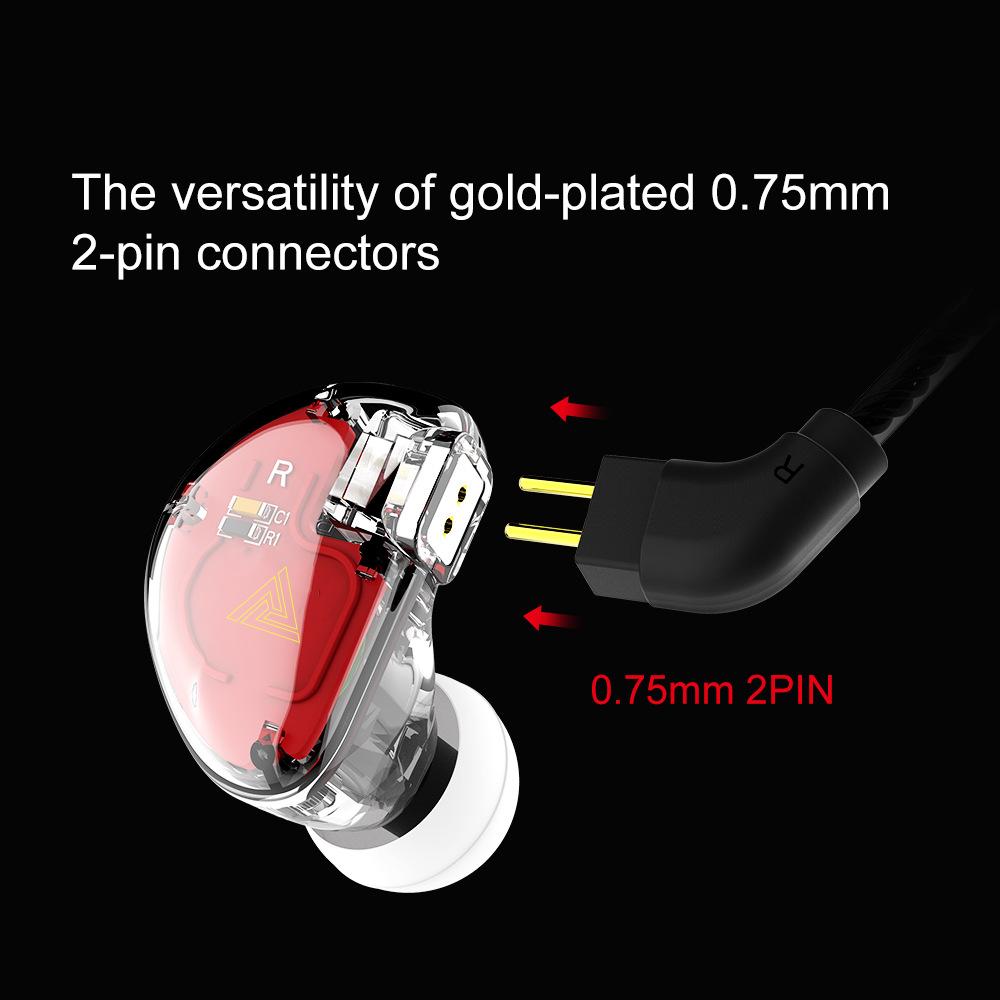QKZ VK5旗舰耳机入耳式耳机4单元圈铁重低音手机线控金属耳机耳塞