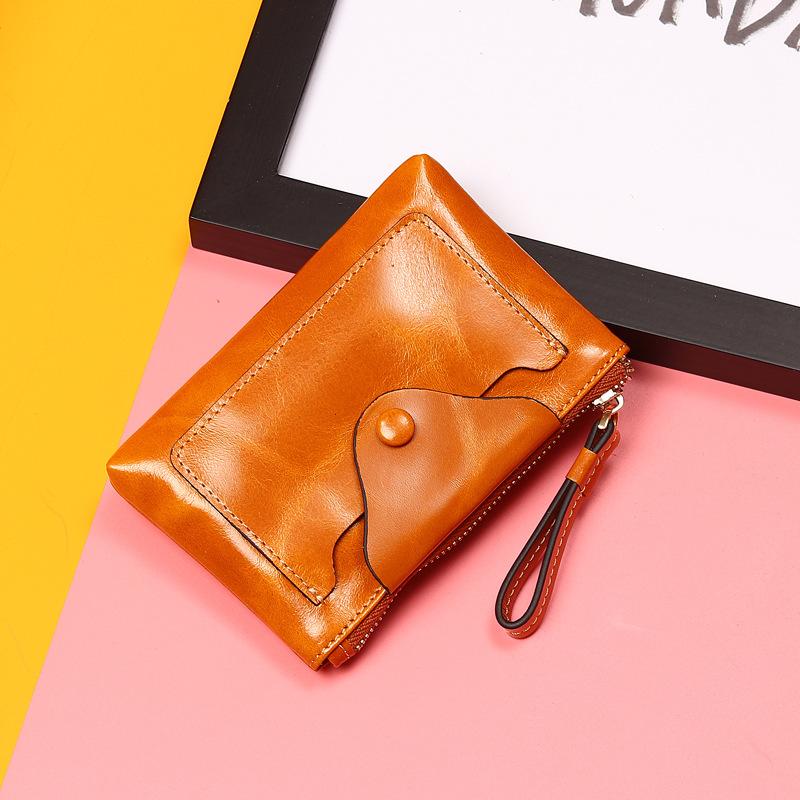 2019新款头层牛皮长款女士钱包大容量钱包男士手拿包零钱包