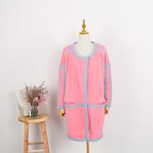 中長款羊毛針織開衫女韓國秋冬復古簡約氣質寬松外套慵懶休閑毛衣