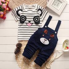 Bộ đồ trẻ em thời trang, thiết kế đơn giản, kiểu Hàn xinh yêu