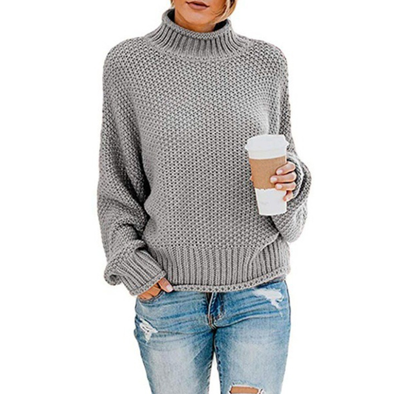 Copy _ Amazon explosion models sweater female 2019 autumn and winter new loose high collar.jpg