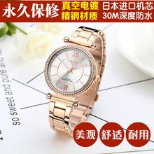 欧美热销钢带镶钻高端女士手表批发 一件代发石英防水时尚女手表