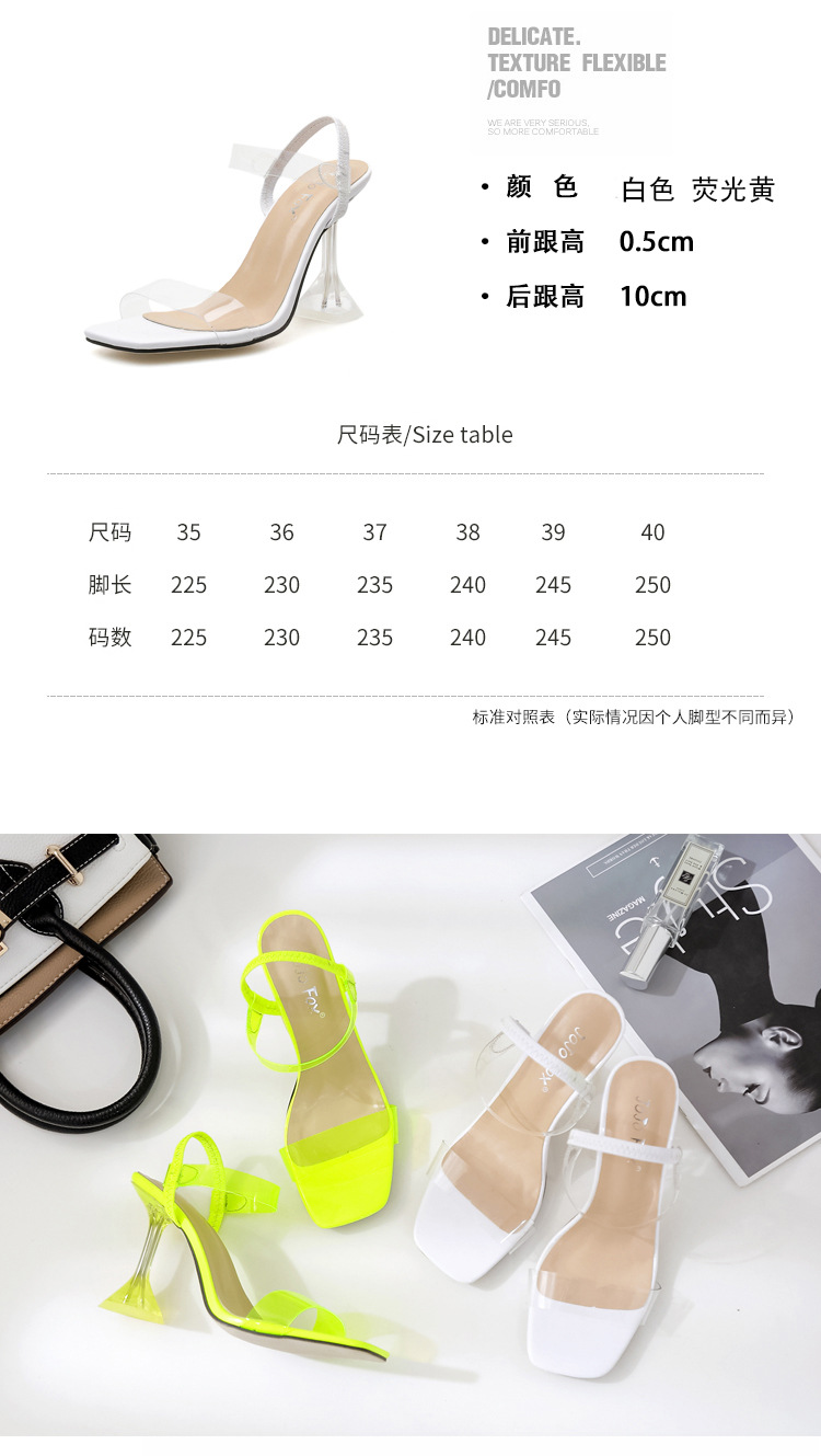 New simple sexy transparent crystal sandals NHHU307550