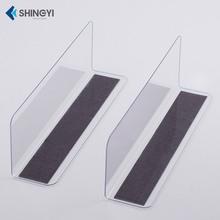 超市货架零食透明PVC分隔板隔离挡板L型塑料分隔板物品分隔片分类