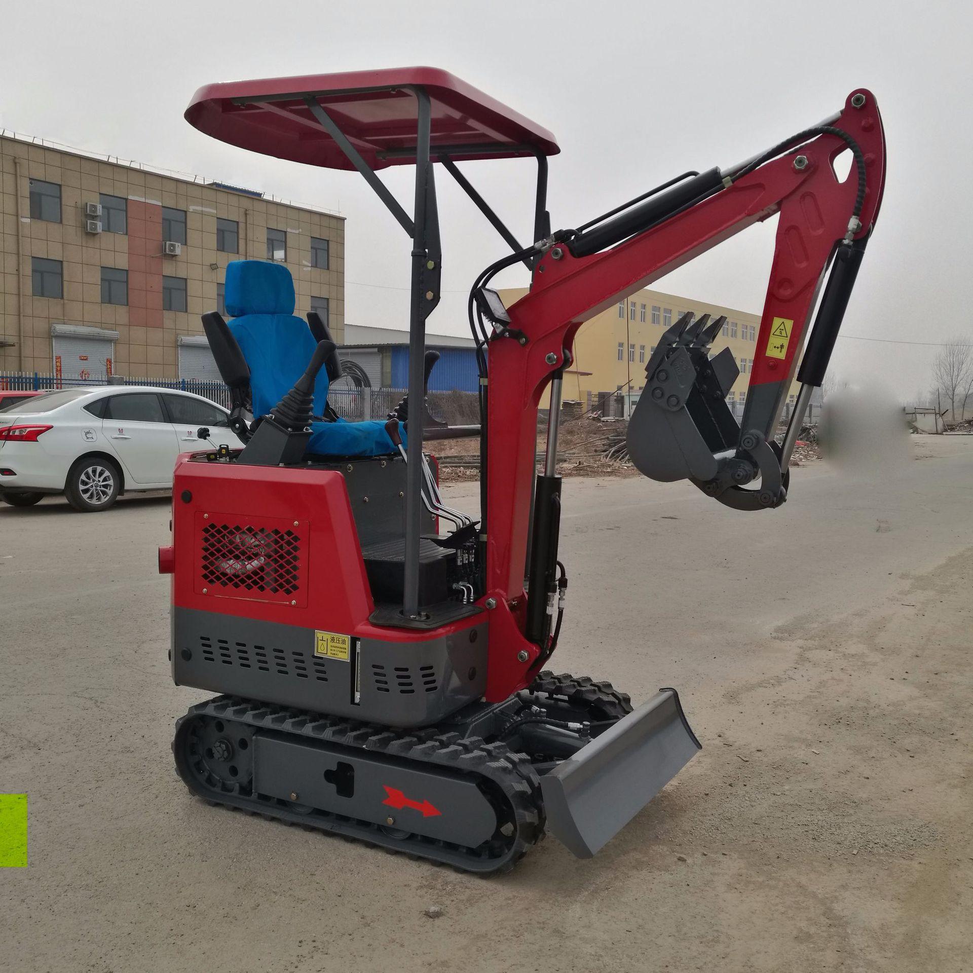 新款热销1.5吨液压挖掘机 15全液压小挖机橡胶履带进口发动机优惠