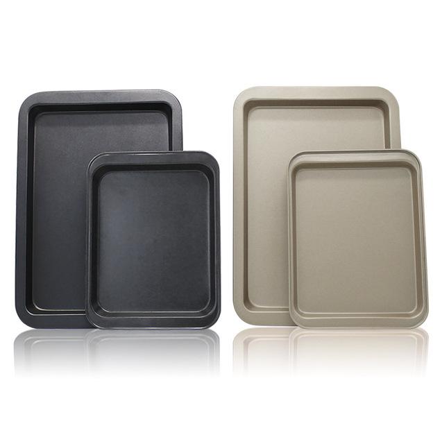 烘焙工具家用不沾浅牛轧糖烤盘深长方形烧烤盘曲奇饼干烤盘模烤箱