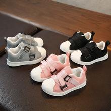 2018秋款儿童运动鞋 男童韩版休闲贝壳头网布板鞋女童魔术贴童鞋