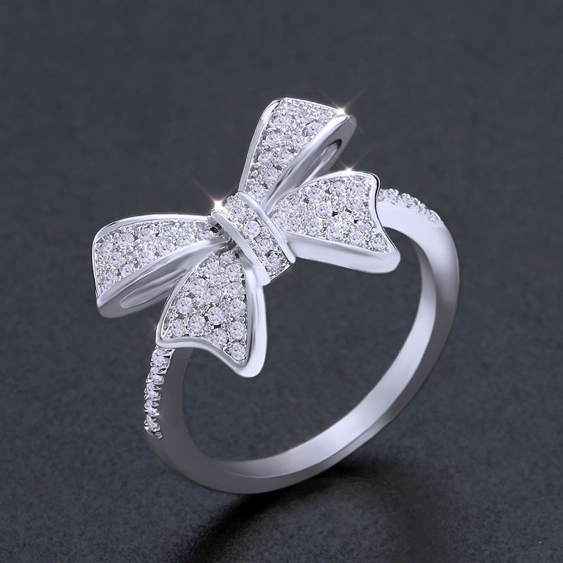 Alloy Simple Bows Ring  (Alloy-7)  Fashion Jewelry NHAS0404-Alloy-7