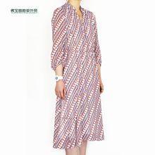 韩国原单尾货工厂直销19春夏季新款女式连衣裙碎花长裙修身显瘦