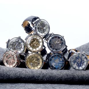 Factory direct supply men's business casual mechanical watch automatic movement watch fashion popular luminous quartz watch
