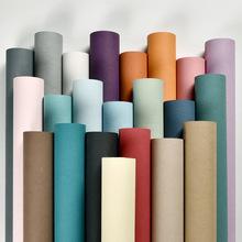 现代简约长纤蚕丝纯色无纺布壁纸客厅卧室电视背景墙酒店工程墙纸