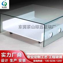 玻璃加工厂热弯加工钢化玻璃 异形玻璃深加工 超白透明钢化玻璃