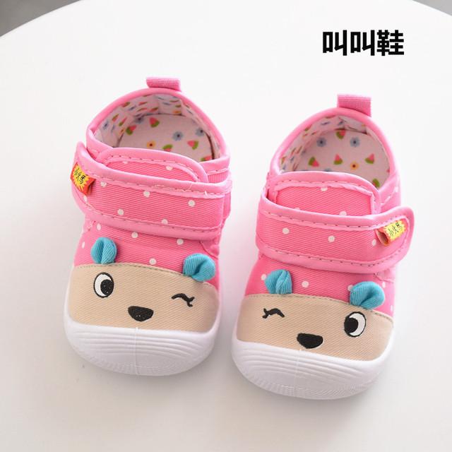 Giày mùa xuân và mùa thu cho bé giày đế mềm có chức năng chống đá, giày sẽ cho bé 0-3 tuổi. Giày em bé