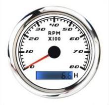 8000RMP 8K转速表高档双层防雾GPS 汽车游艇 船用?#28304;?#25253;警12-24V