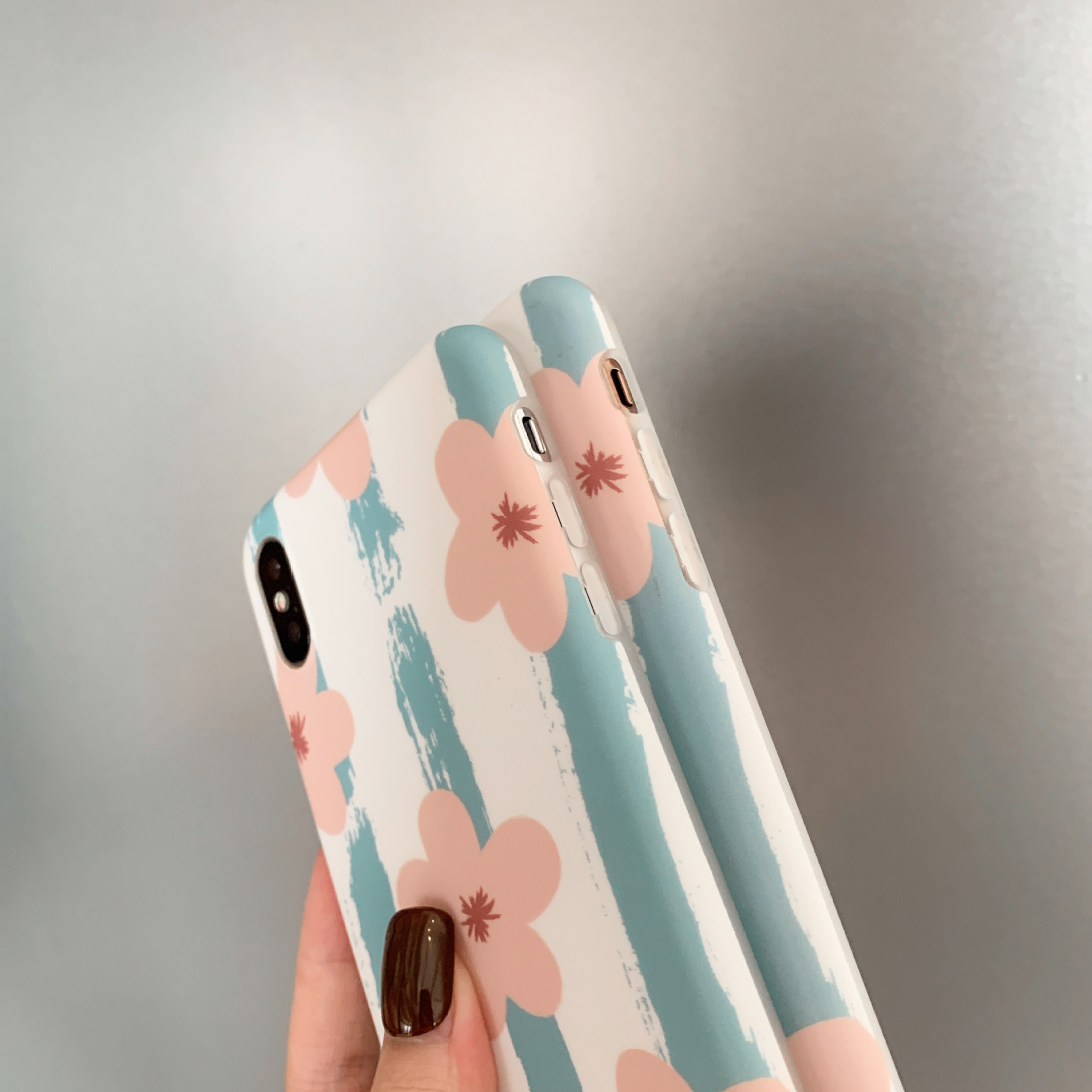 Fashion iPhone 8plus cute iPhone xs max flowers drop-proof phone case NHDV197914