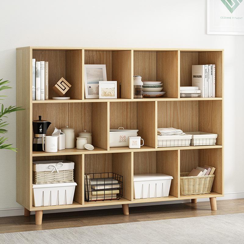 书柜书架简易落地简约置物架收纳小柜子创意经济型柜子省空间家用