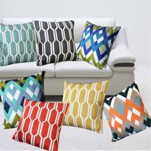 幾何圖形滿版刺繡花沙發靠墊套汽車座椅裝飾靠背套床頭軟包套