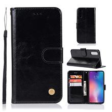 适用小米红米xiaomi 复古纯色翻盖插卡商务手机皮套保护壳钱包款