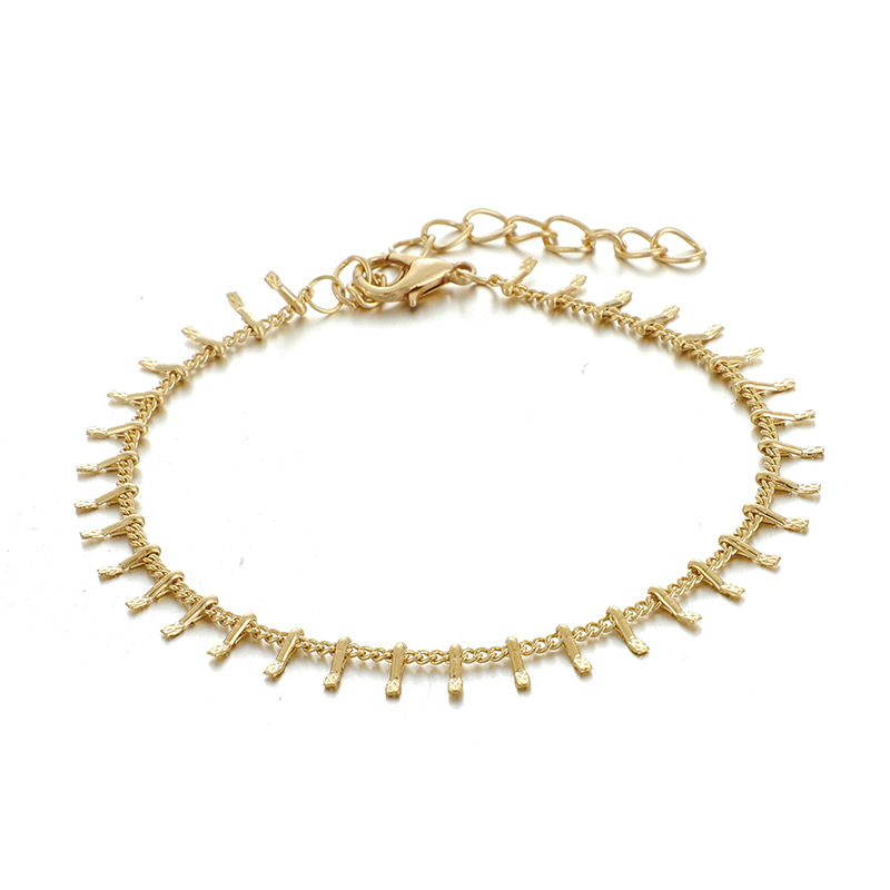 Pulsera creativa de cuentas de oro con forma de gota, pulsera abierta de diamantes, combinación de 7 piezas NHGY177496